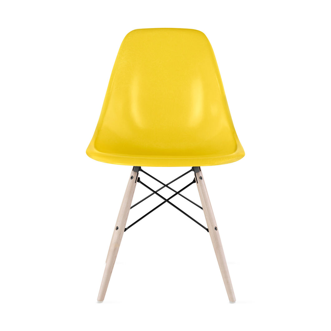 Eames® Molded Fiberglass Side Chair from Herman Miller© in color Lemon Yellow