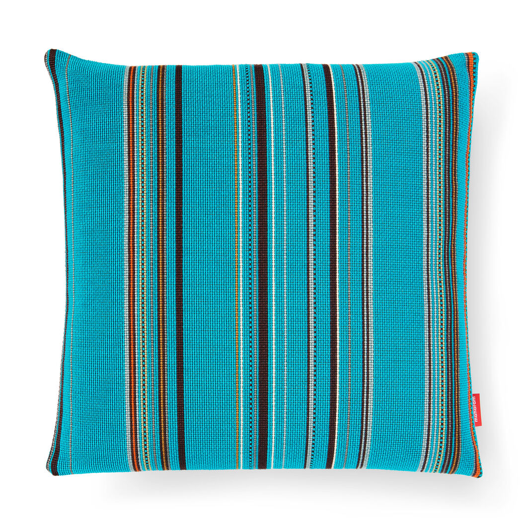Point Pillow - Cyan in color