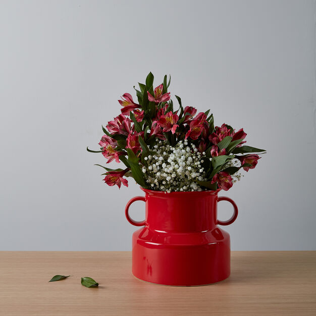 Panto Vase in color Red