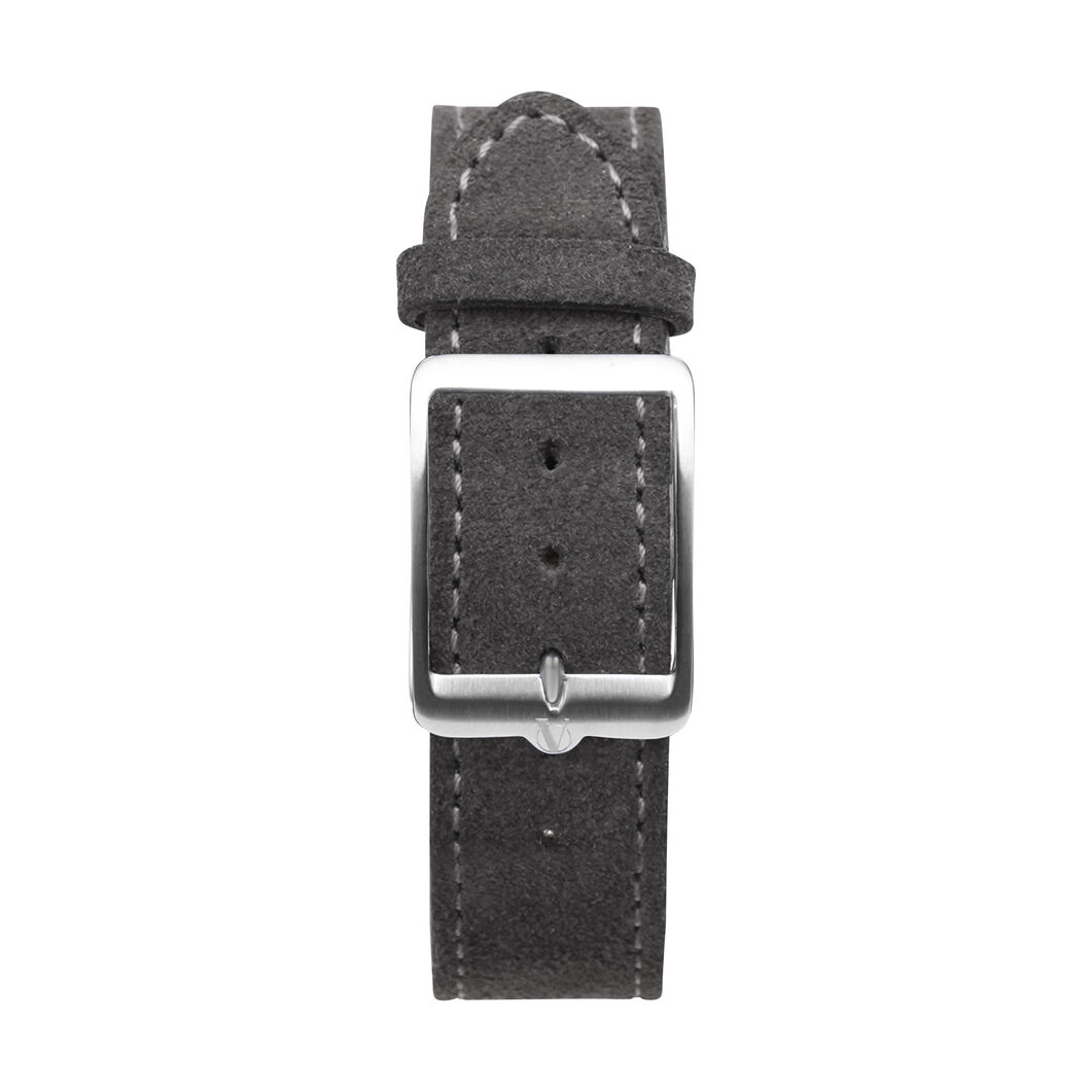anOrdain Model 1 Watch - Iron Cream Dial in color Gray Suede