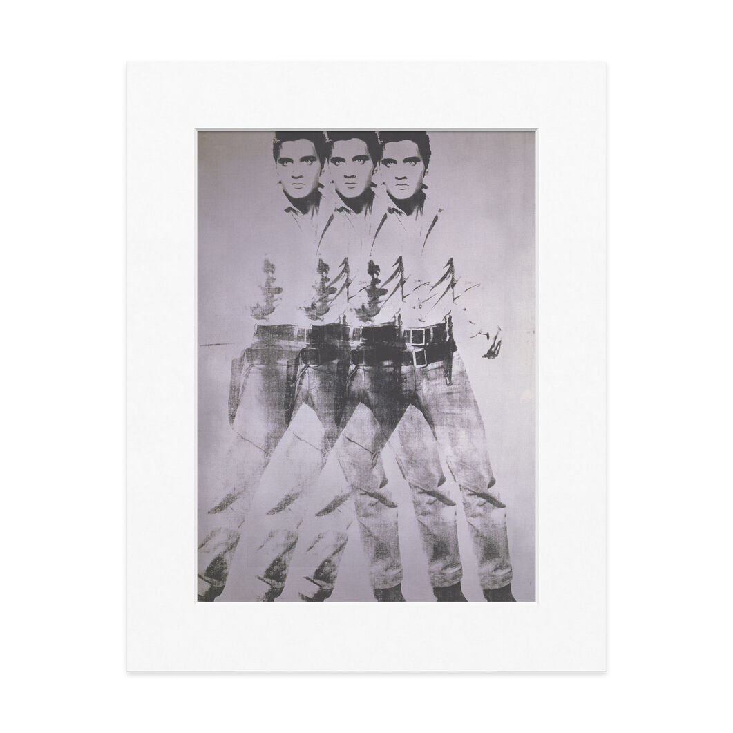 Warhol: Triple Elvis  Matted Print in color