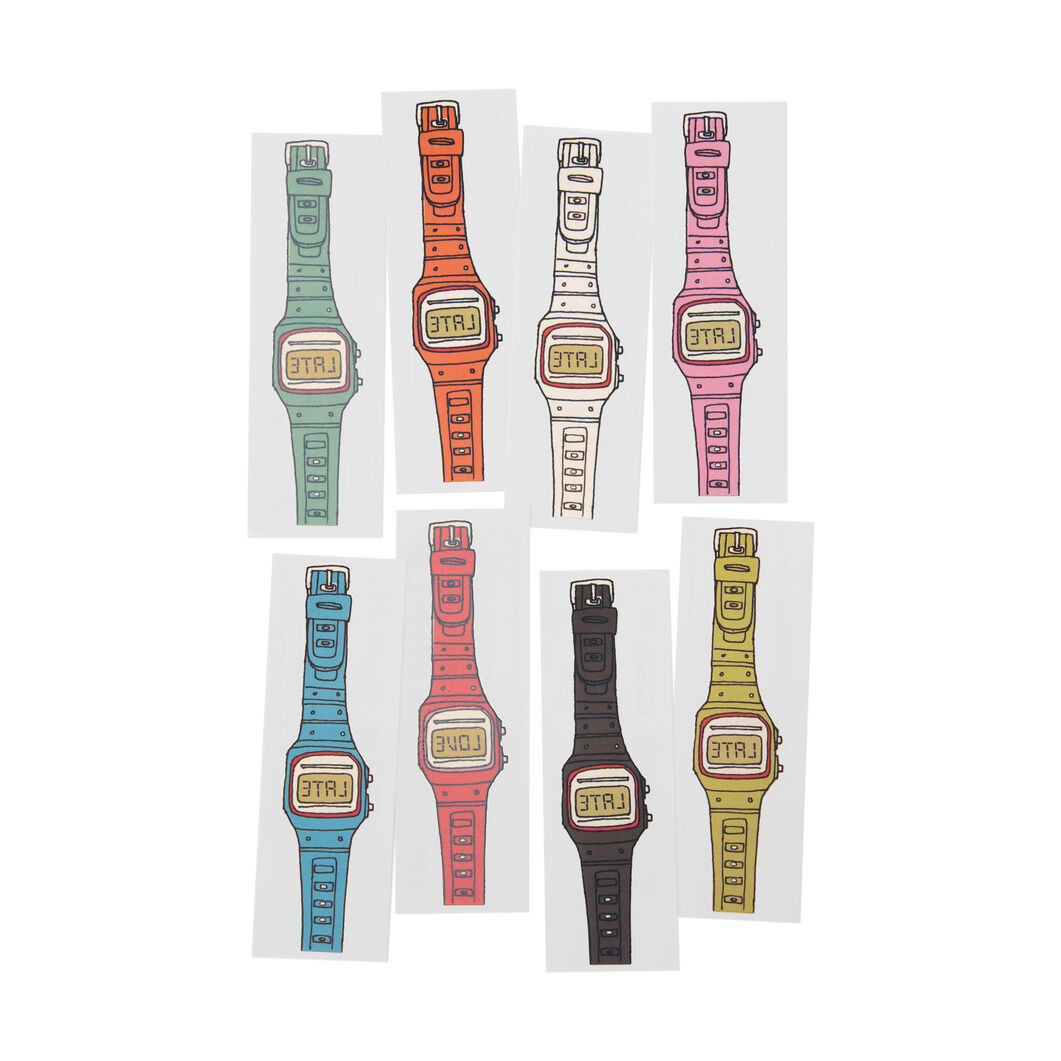 Temporary Tattoo Watch Set in color