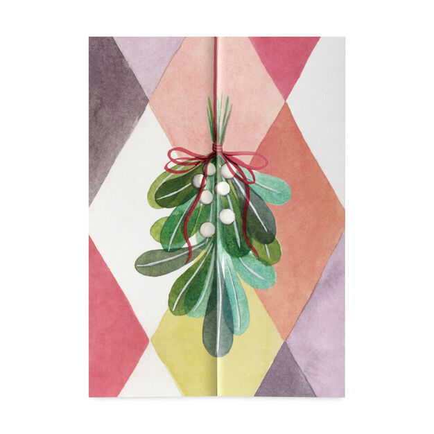 Mistletoe Holiday Cards (Box of 8) in color