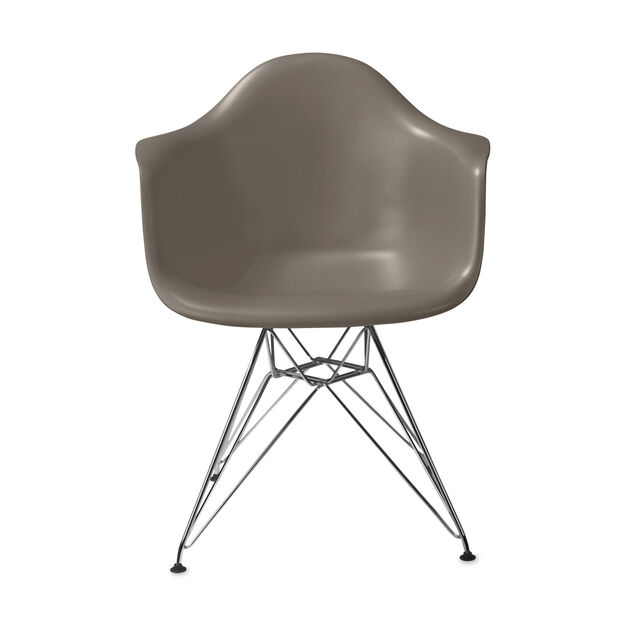 Eames® Molded Plastic Armchair with Wire Base (DAR) from Herman Miller© in color Sparrow
