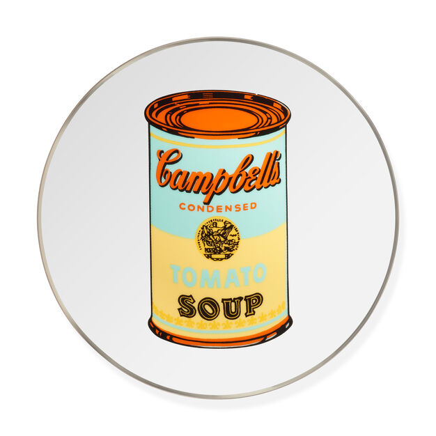 Andy Warhol Soup Can Plate- Yellow in color Yellow