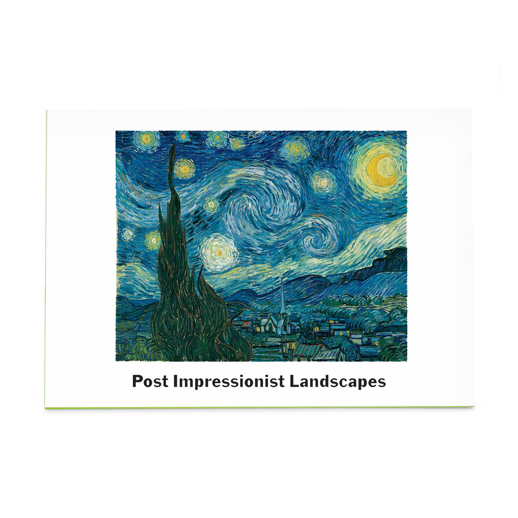 Post Impressionism Note Card Box in color