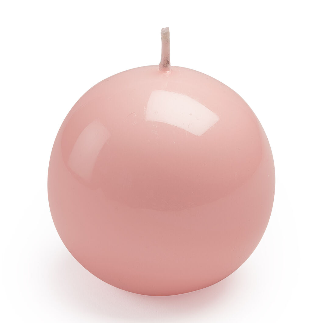 Italian Ball Candle in color Pink
