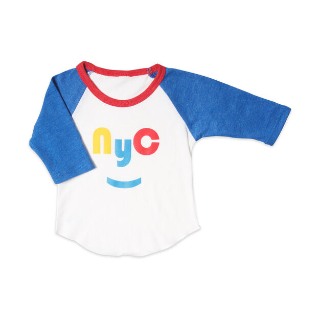 NYC Smile Raglan T-Shirt in color