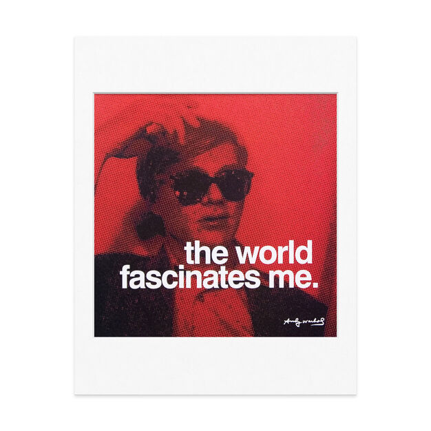 Matted Print Andy Warhol: The world fascinates me in color