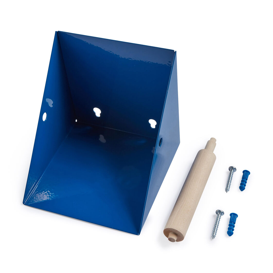 Toilet Paper Holder with Shelf in color Black