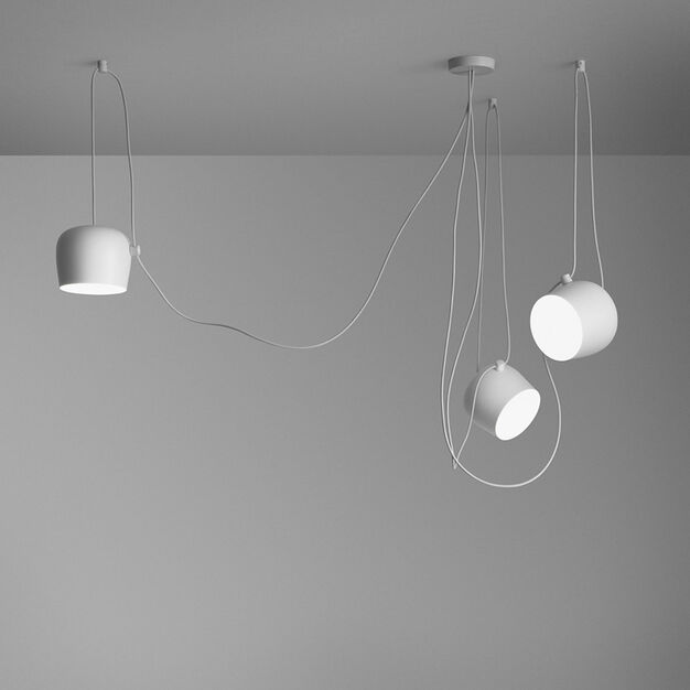 Flos AIM Pendant Light, Set  of 3 in color White