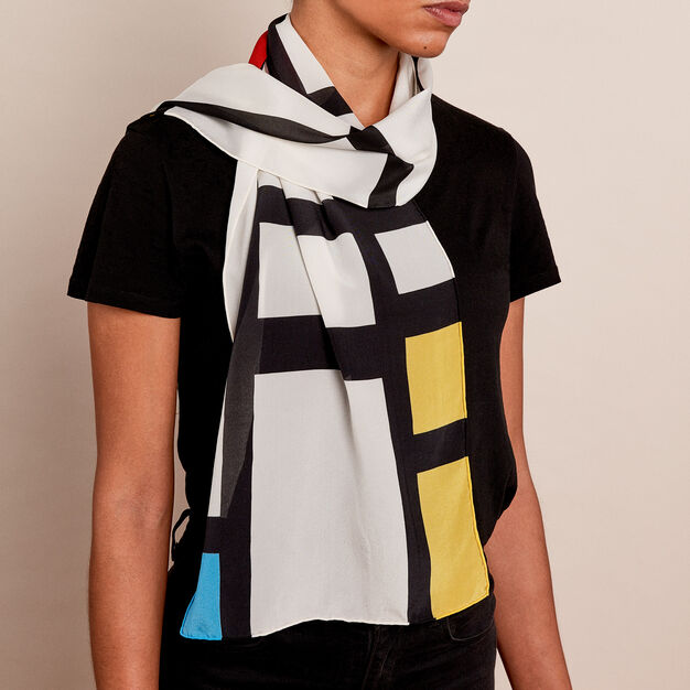 Mondrian: Trafalgar Scarf in color