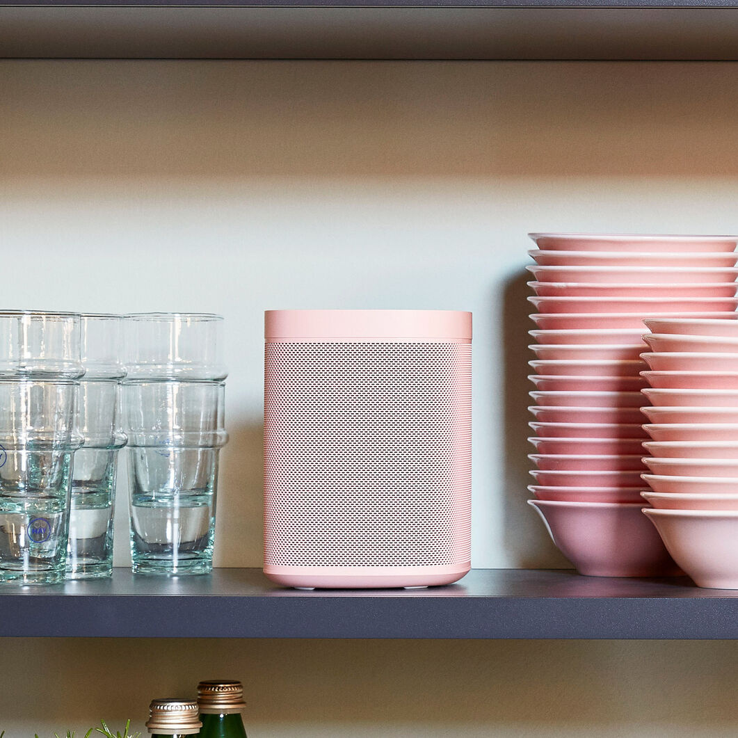 HAY Sonos One Limited Edition Speakers in color Pink