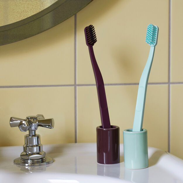 HAY Toothbrush Holder in color Warm Yellow