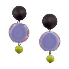 Murano Drop Earrings in color Lavender