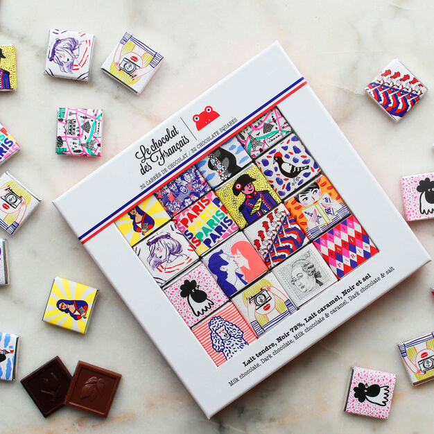 Le chocolat des Français Chocolate 32-Piece Gift Box in color