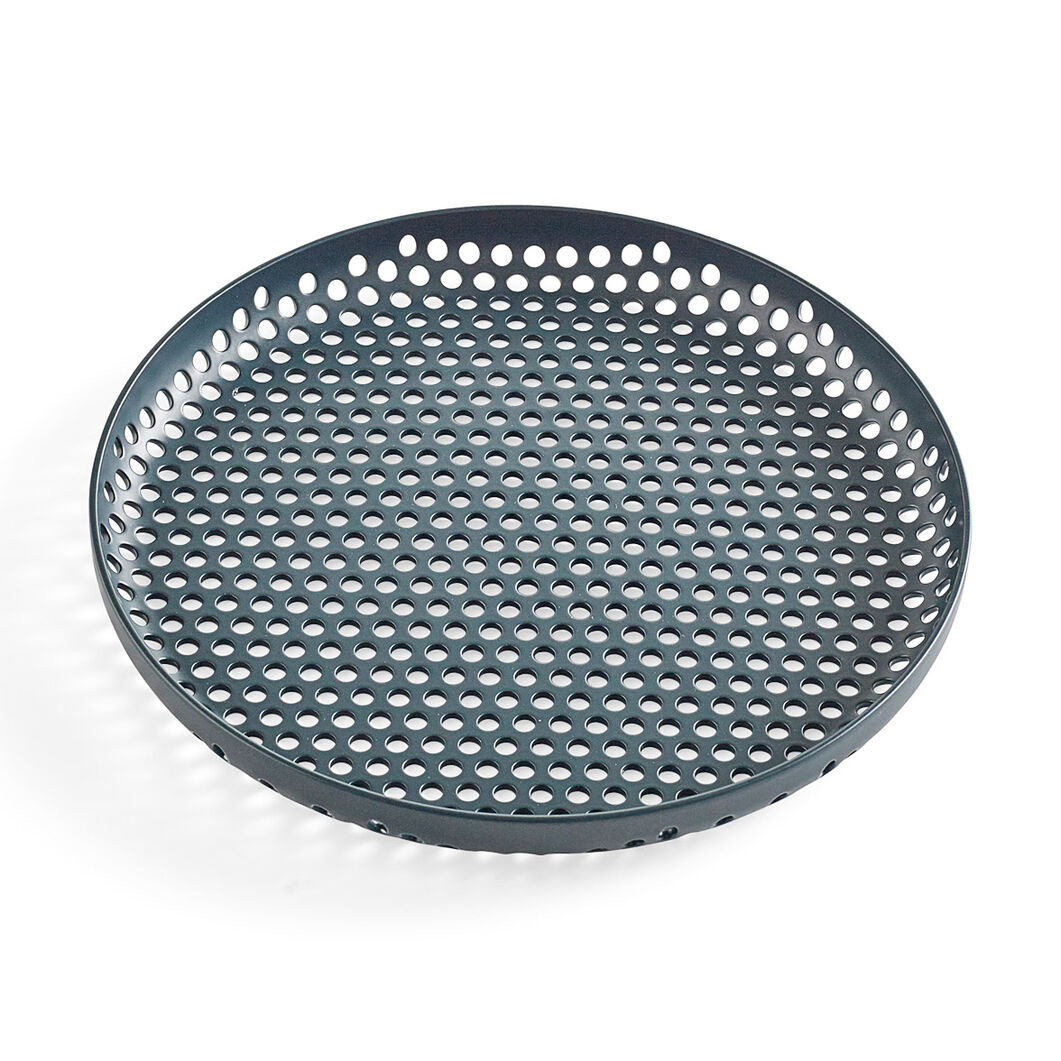 HAY Perforated Tray Small in color Dark Green