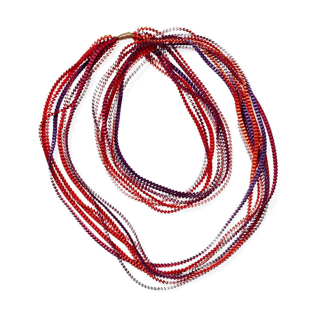 Pleated Necklaces in color Red