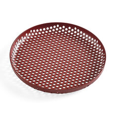 HAY Perforated Tray Small in color Bordeaux