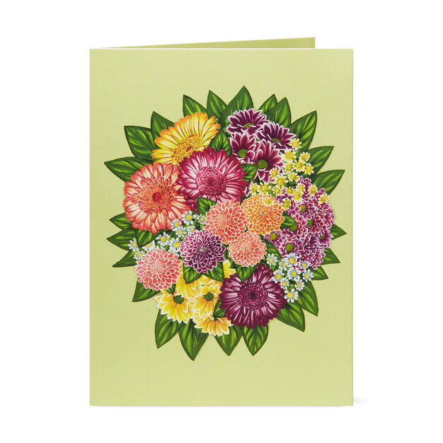 Floral Bouquet Pop-Up Note Cards - Set of 6 in color