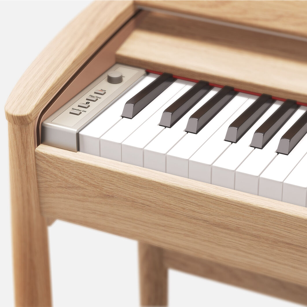 Roland Kiyola Piano in Oak Wood in color