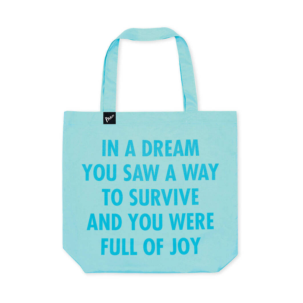Jenny Holzer Parley for the Oceans Tote in color