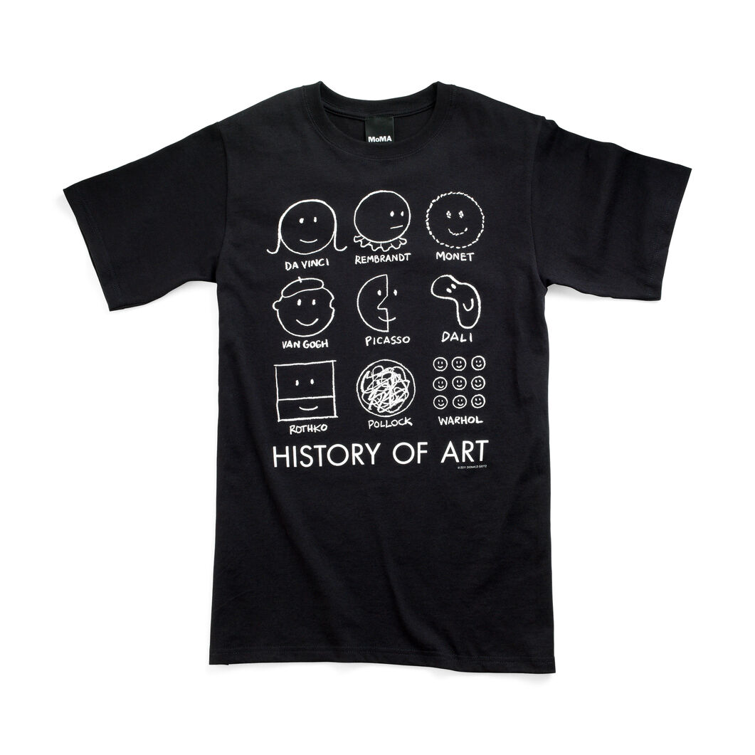 History of Art T-Shirt in color Black