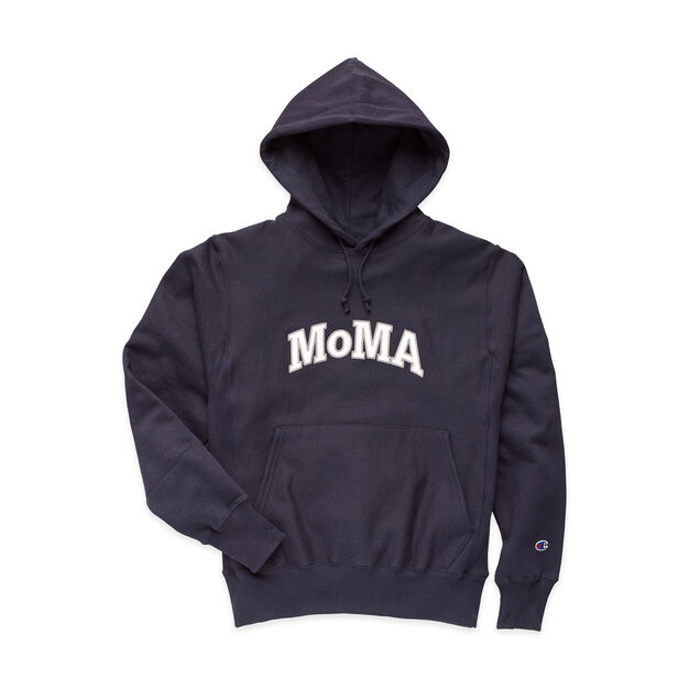 30919e731ea6 Champion Hoodie - MoMA Edition in color Navy