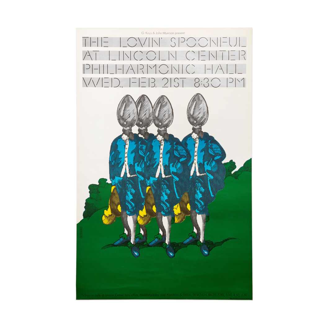 Milton Glaser: The Loving Spoonful at Lincoln Center Poster in color
