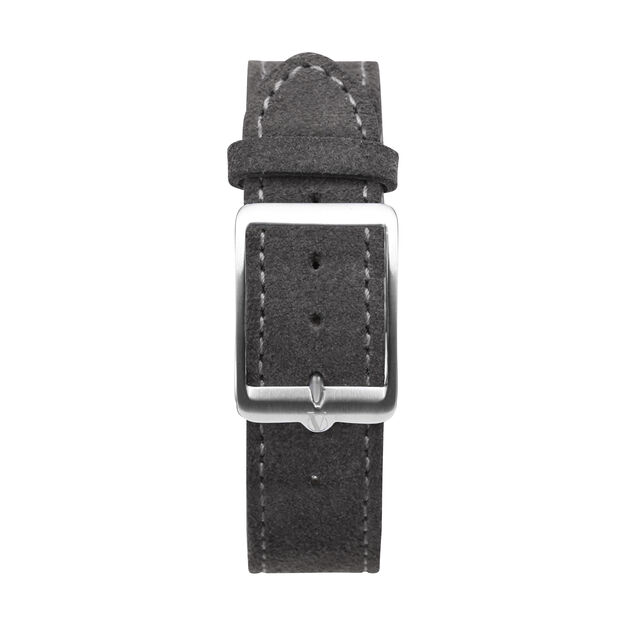 anOrdain Model 1 Watch - Teal Dial in color Gray Suede