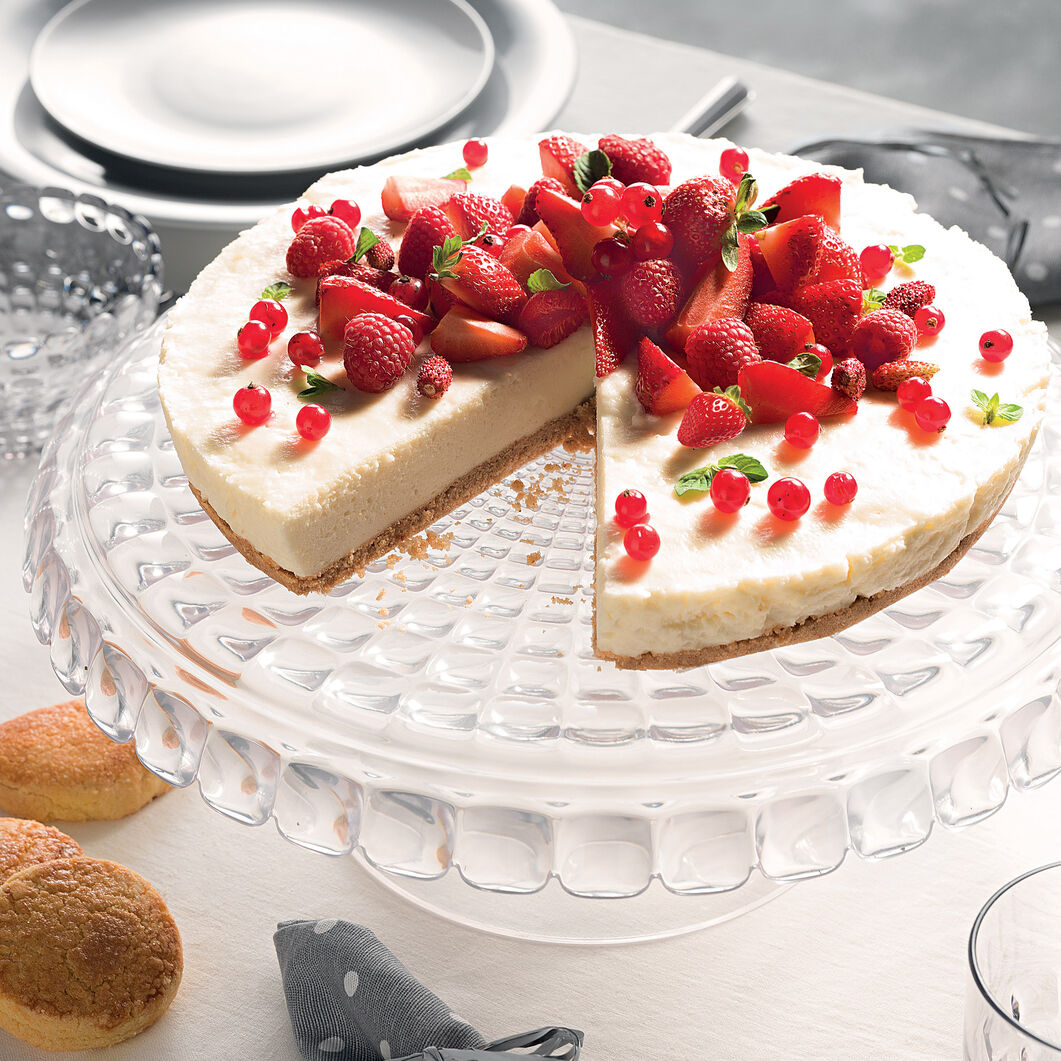 Optical Relief Cake Stand in color