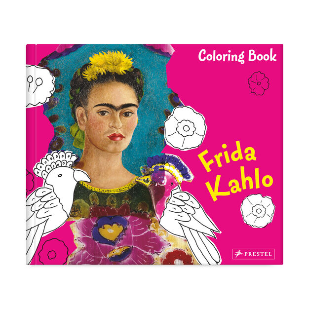 Coloring Book Frida Kahlo in color