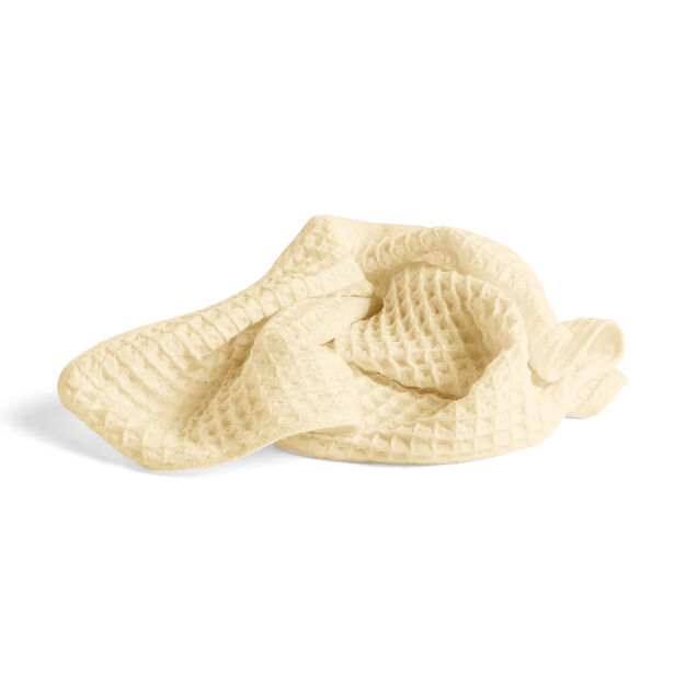HAY Giant Waffle Guest Towel in color Light Yellow