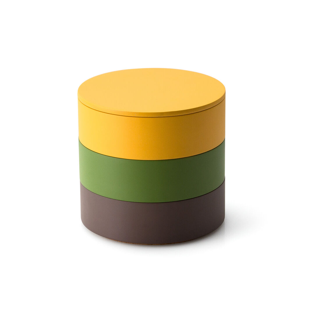 Stacking Jewelry Boxes in color Yellow/ Green/ Brown