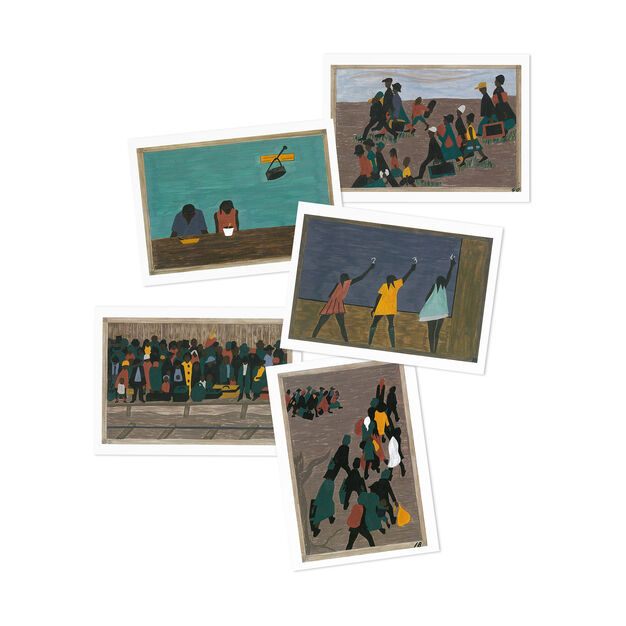 Jacob Lawrence: The Migration Series Note Card Box in color