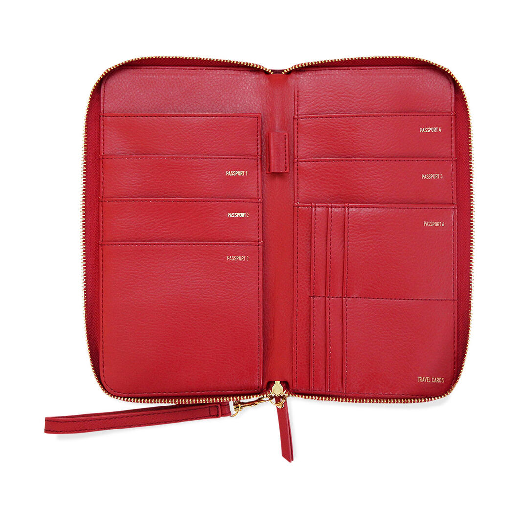 Family Travel Wallet - Red in color Red
