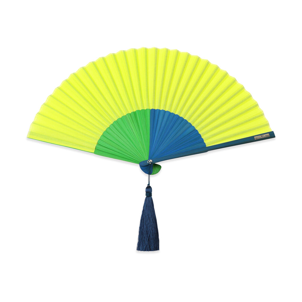 Multi-Colored Japanese Fans in color Yellow
