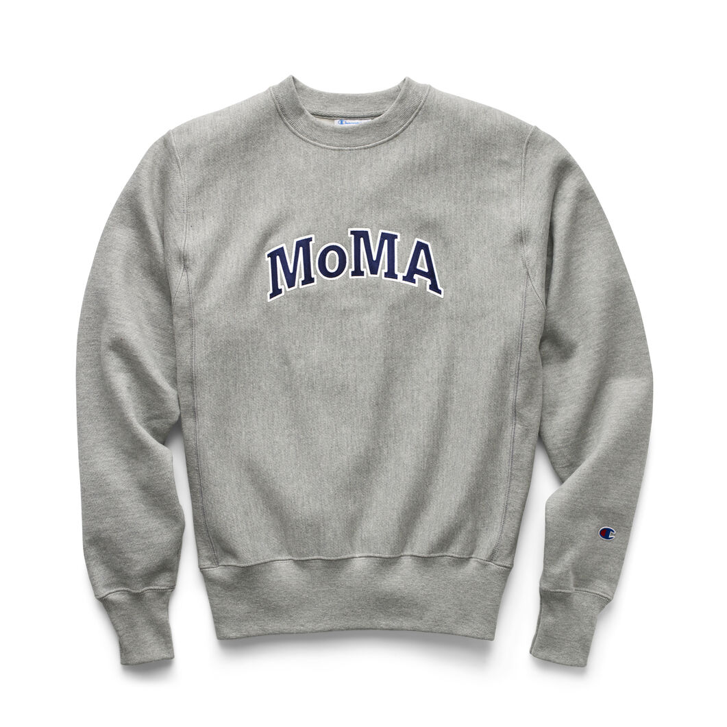 Champion Crewneck Sweatshirt - MoMA Edition in color Grey