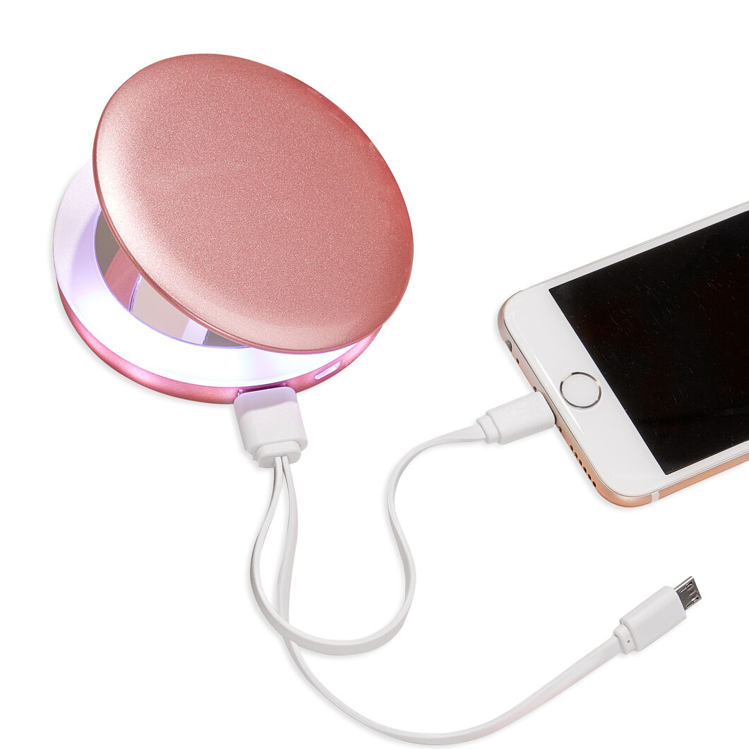 Pearl Compact Mirror and Charger in color Rose