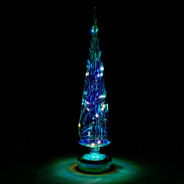 LED Lighted Trees in color Teal