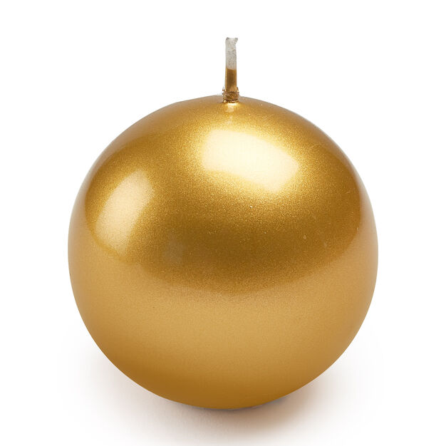 Meloria Ball Candle in color Gold