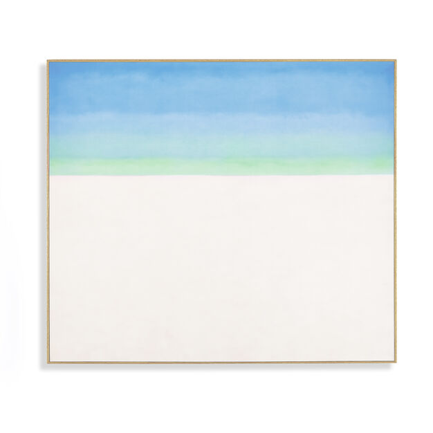 Georgia O'Keeffe: Sky with Flat White Cloud Framed Print in color