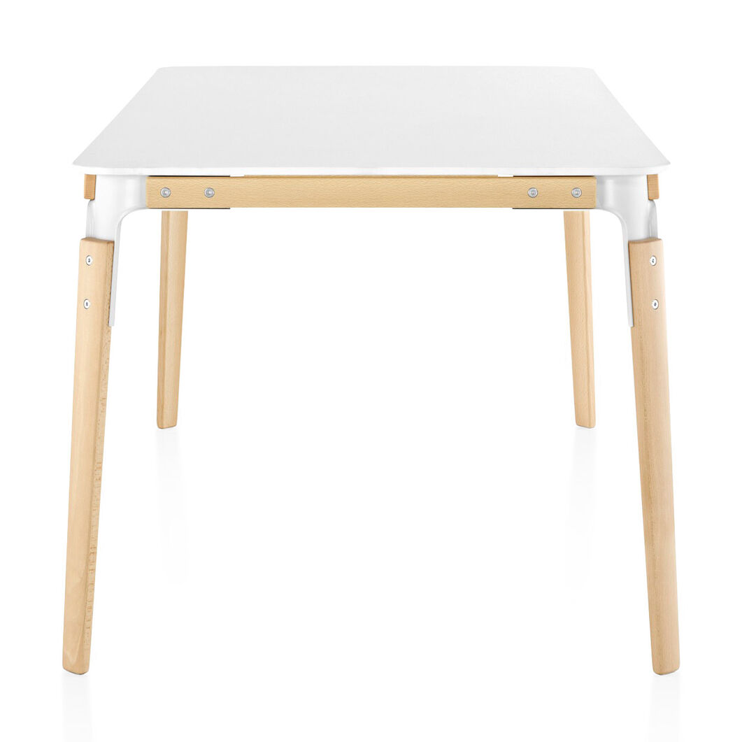 Magis Rectangular Steelwood Table in color White