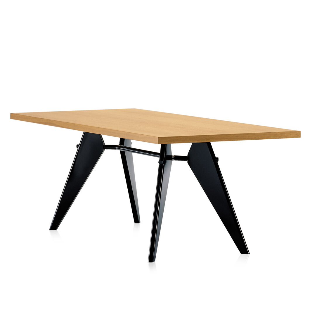 EM Wood-Top Table in color Oak