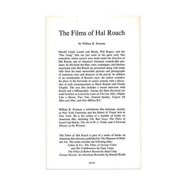 The Films of Hal Roach - Paperback in color