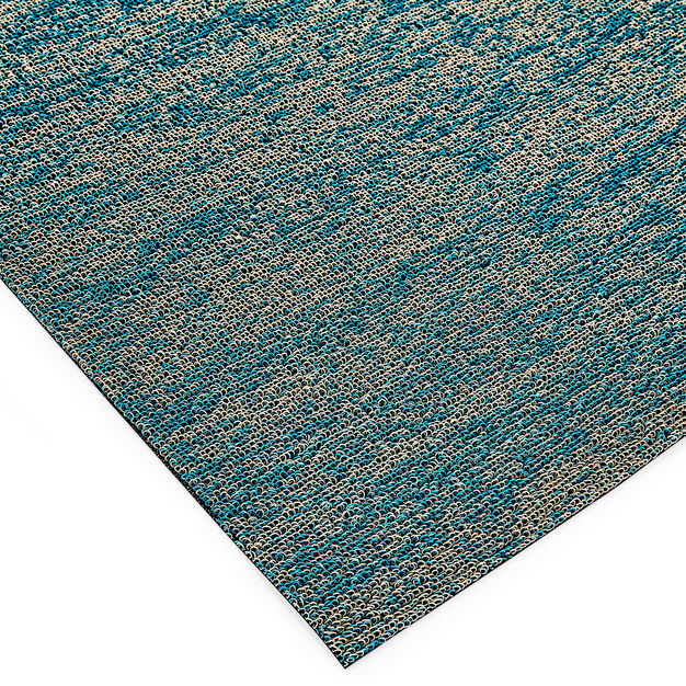 Chilewich Shag Mat in color Aqua
