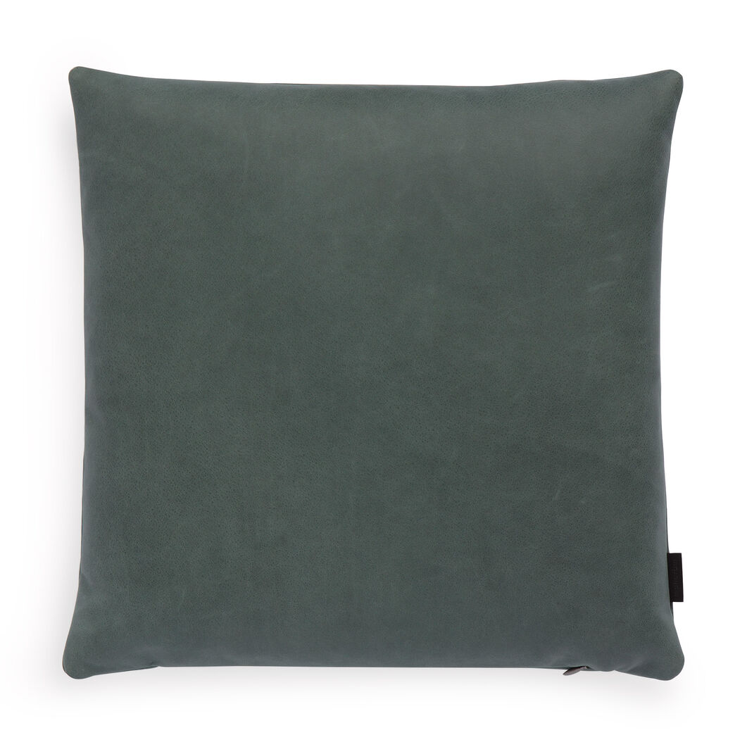 Maharam Loam Leather Pillow in color Ivy
