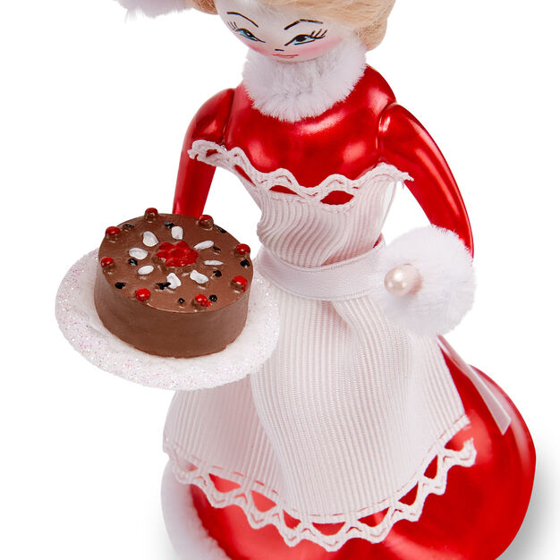 Mrs. Claus Holiday Ornament in color