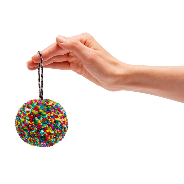 Pompom Holiday Ornaments in color Multi