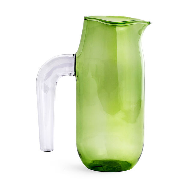 HAY Glass Jug in color Green